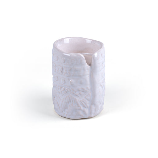 CANDLE HOLDER <br> WHITE <br> (9 x 6.5) CM