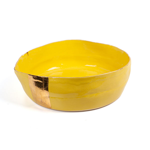 Sophies's Bowl <br> Yellow <br> (L 42 x W 37 x H 12.5) cm