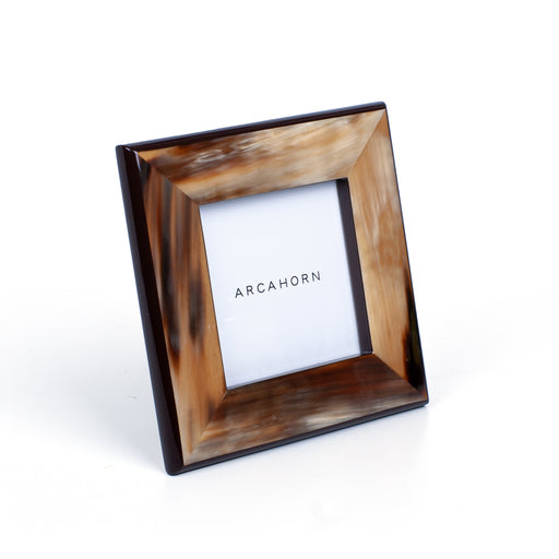 ARCAHORN PHOTO FRAME <BR> BROWN