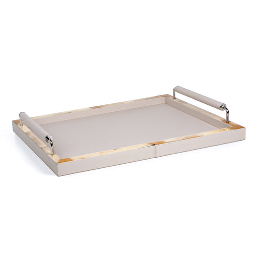 ARCAHORN SERVING TRAY <br> IVORY