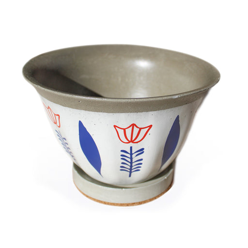 FENJAN DECORATIVE POT <br> BLUE <br>(Ø 21 x H 13.5) cm