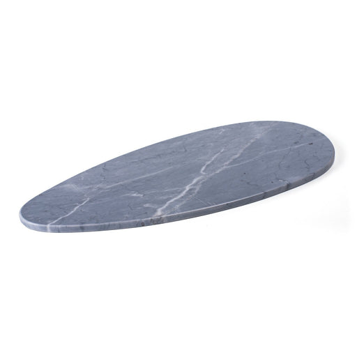 MARBLE OVAL TRAY <br> GREY <br> (L 45.5 x W 19) CM