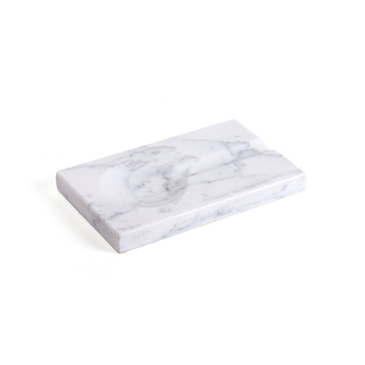 Marble Ashtray <br> White <br> (L 20 x W 12) cm