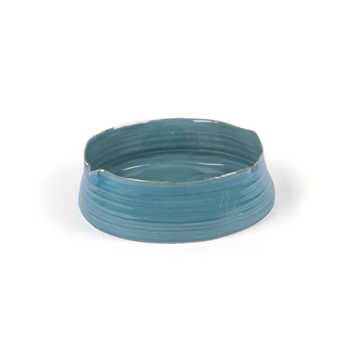 Wheel Round Bowl <br> Blue <br> (L 28.5 x W 27 x H 8.5) cm