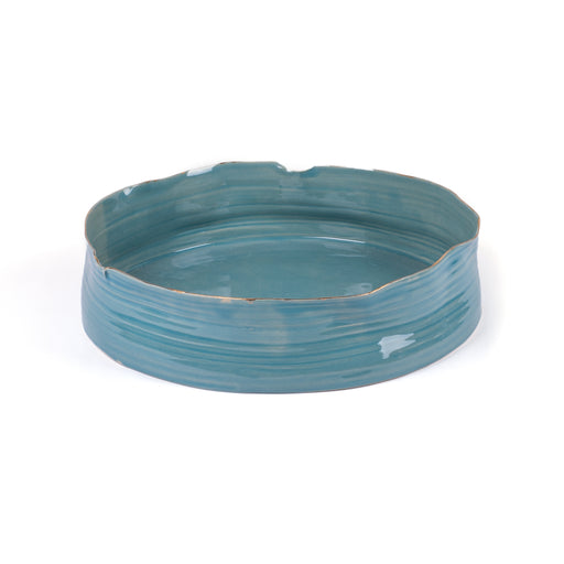 Wheel Round Bowl <br> Blue <br> (L 36 x W 35 x H 9) cm