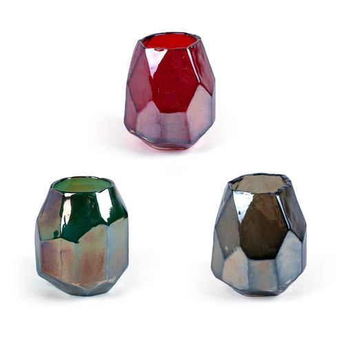 Colorful Diamond Vases <br> Set of 3