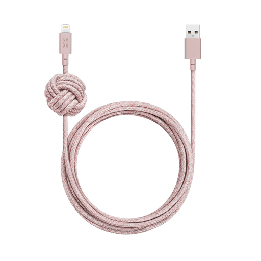 NIGHT CABLE <br> ROSE USB-A to Lightning