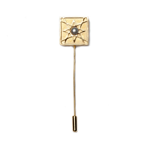 EL ARABESQUE<br> SMALL LAPEL PIN Gold Plated
