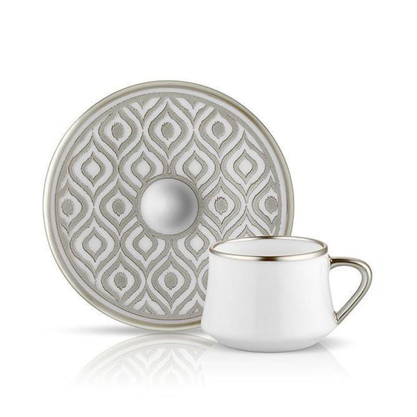 TEA SET OF 6 <br> SUFI IKAT TURKISH