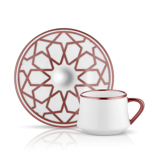 TEA SET OF 6 <br> SUFI STAR TURKISH