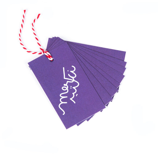 MERCI KTEER <br> GIFT TAG <br> PACK OF 8 TAGS