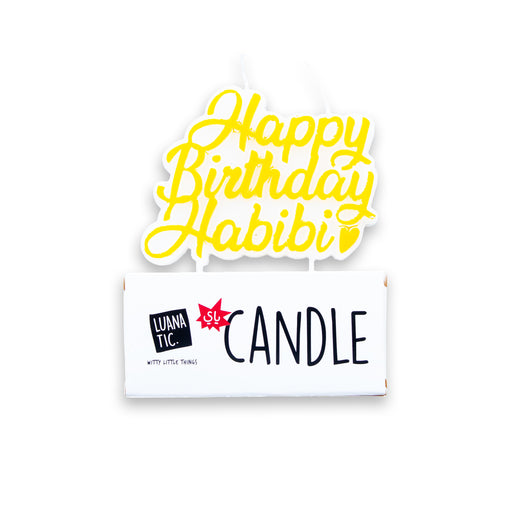 Happy Birthday Habibi <br> Candle