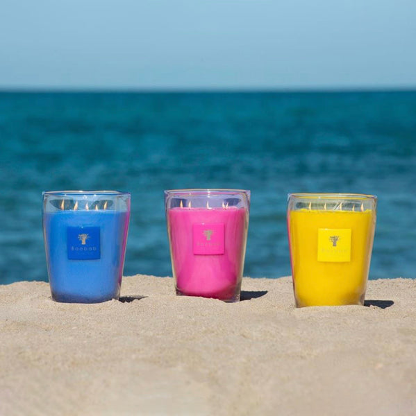 BEACH CLUB D'ENBOSSA CANDLE <br> EXOTIC FRUITS, JASMINE, MUSK <br> LIMITED EDITION <br> (12.5 x 10) CM