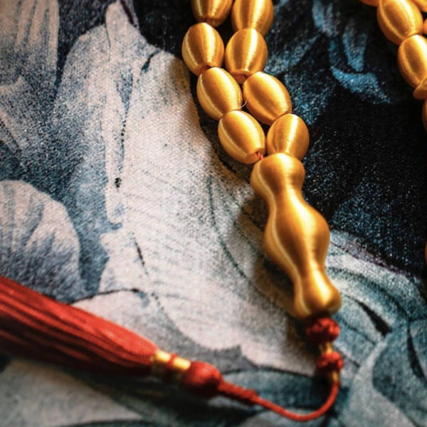 SUBHA <br> GOLDEN YELLOW / GOLD <BR> STRAIGHTENED TASSEL
