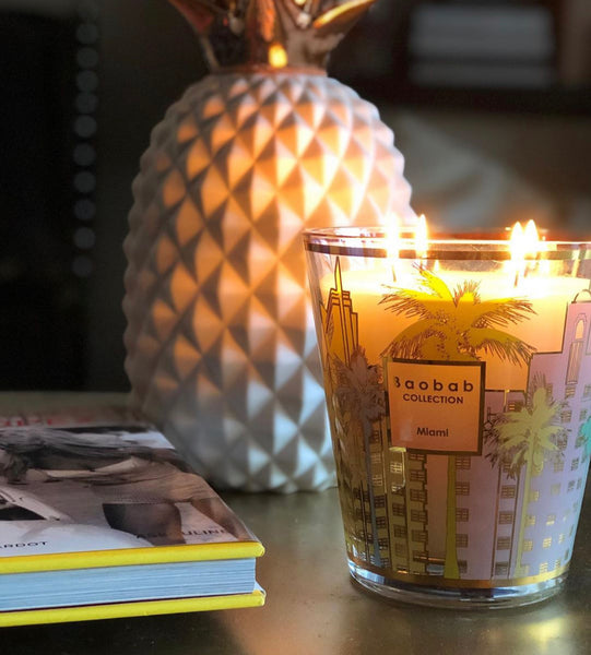 CITIES MIAMI CANDLE <br> CYPRESS, CEDAR, MUSK <br> LIMITED EDITION <br> (12.5 x 10) CM
