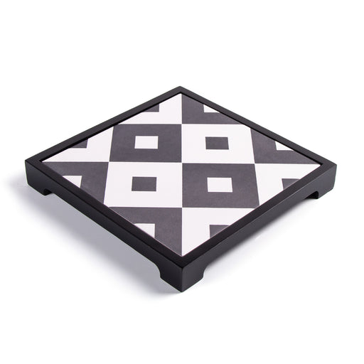 SQUARE PATTERNED <br>CERAMIC TRAY