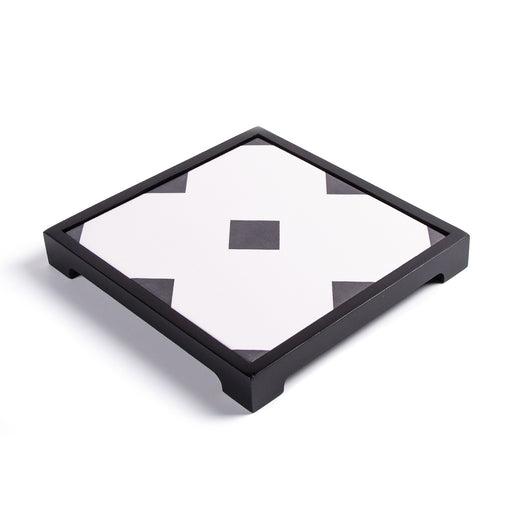 POLYGON PATTERNED <br>CERAMIC TRAY