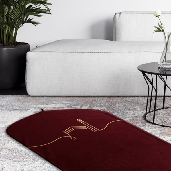 Premium Prayer Mat <br> Kaaba Collection <br> Comfit Insert <br> Maroon