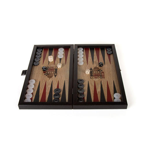 LONDON <br>TRAVEL SIZE <br> BACKGAMMON <br> (30 x 17) cm