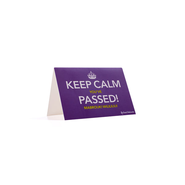 KEEP CALM YOU'VE PASSED MABROUK <br>Greeting Card / Small