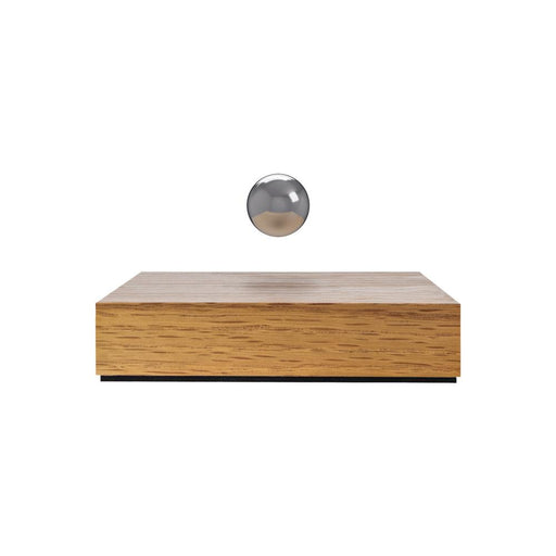 Levitating Buda Ball <br> Oak Base / Chrome Sphere