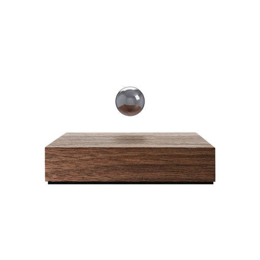 Levitating Buda Ball <br> Walnut Base / Chrome Sphere