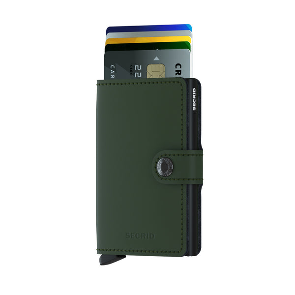 Mini Wallet <br> Matte Green Black
