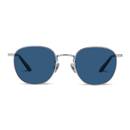 The Splash<br> Silver Frame<br>Blue Lenses