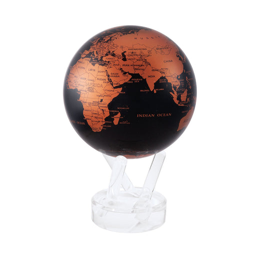BLACK AND COPPER <br> GLOBE <br> Ø 12 cm x H 18 cm