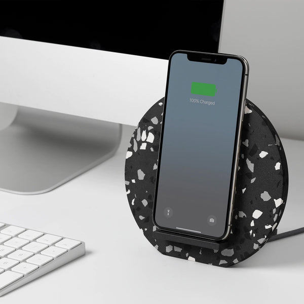 DOCK WIRELESS CHARGER <br> TERRAZZO SLATE EDITION