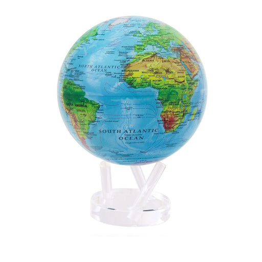 Globe Relief Map <br> Blue <br> (Ø 16 x H 23) cm