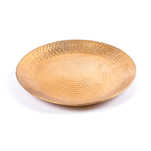 SERVING TRAY <br> MATT GOLD <br> Ø 33 CM