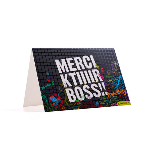 MERCI KTIR BOSS <br>GREETING CARD