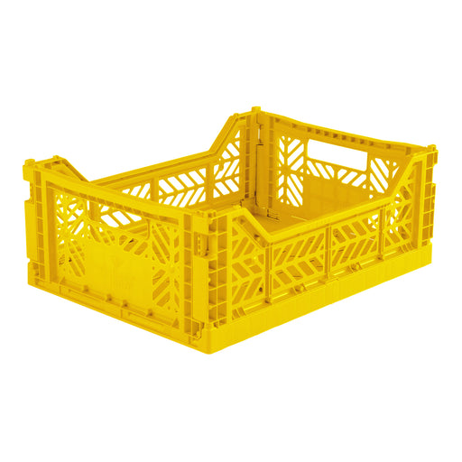 FOLDING CRATE <br> YELLOW <br> (L 40 x W 30 x H 14) CM