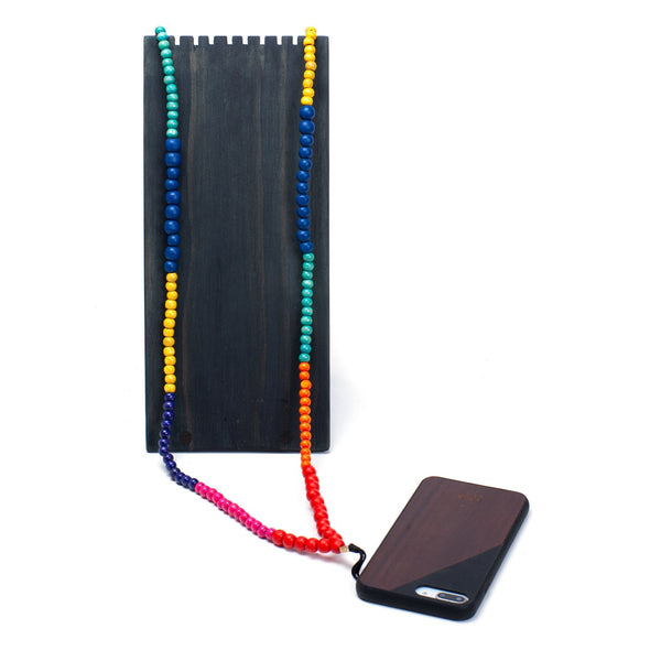PLAIN WOOD <br> PHONE NECKLACE