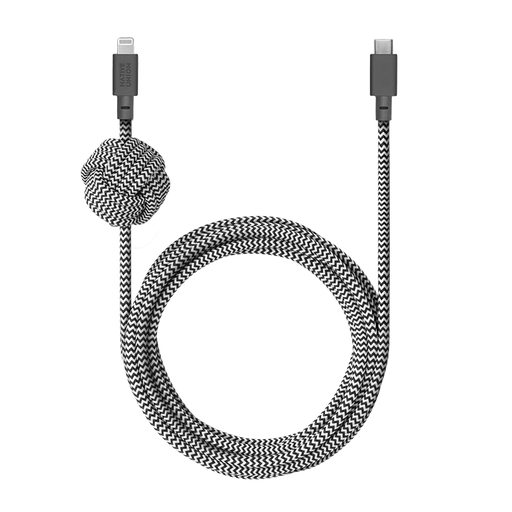 Night Cable Zebra<br> USB-C to Lightning <br> 3 m