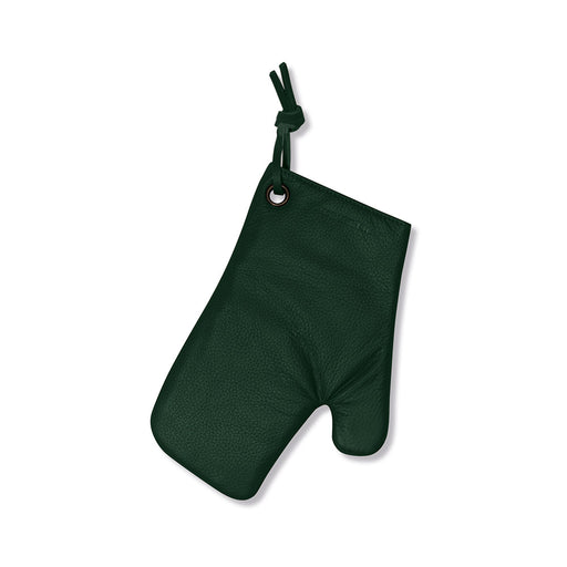 Leather Oven Gloves <br>Forest Green