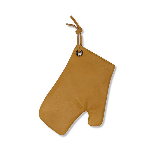 LEATHER OVEN GLOVES <br>Yellow Ochre