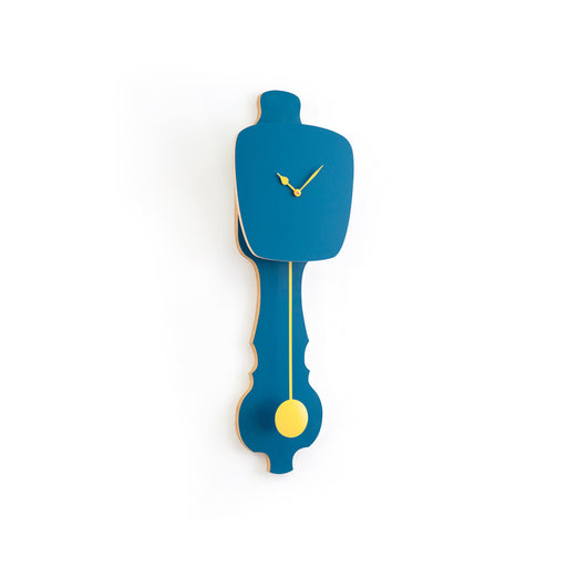 PETROL BLUE CLOCK<br> SOFT YELLOW