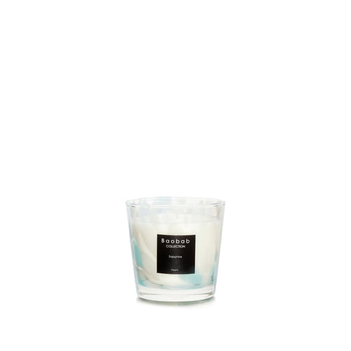 PEARLS SAPPHIRE CANDLE <br> SEAWEED AND MYRTLE <br> (8.5 x 8) CM