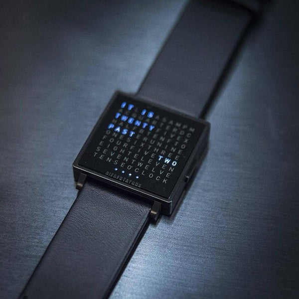 QLOCKTWO W35 <br/>BLACK ON BLACK