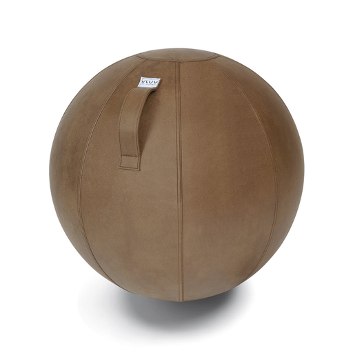 VEEL SEATING BALL <br> COGNAC BROWN