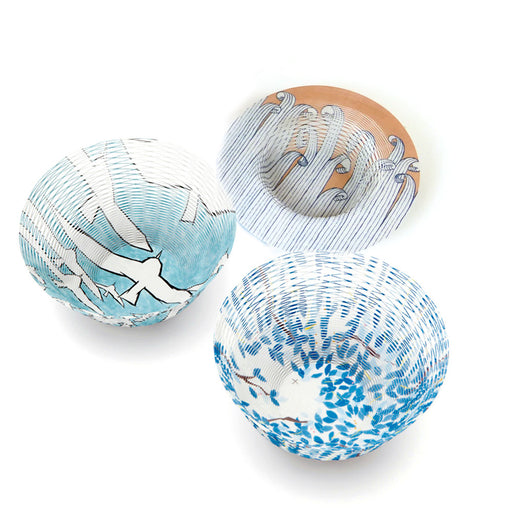 REVERSIBLE AIR VASE <br> MINA SKY <br> SET OF 3