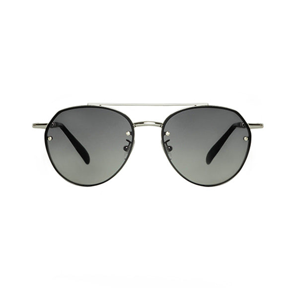 SORPASSO SUNGLASSES <br>Silver Black