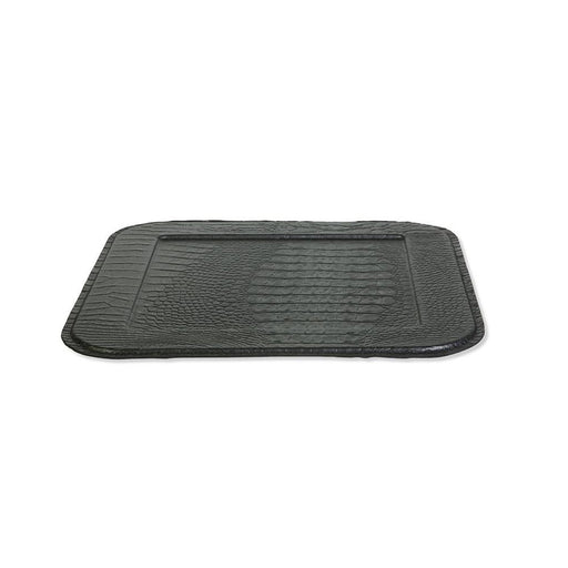 STYLISH SERVING TRAY<br> CROCO BLACK