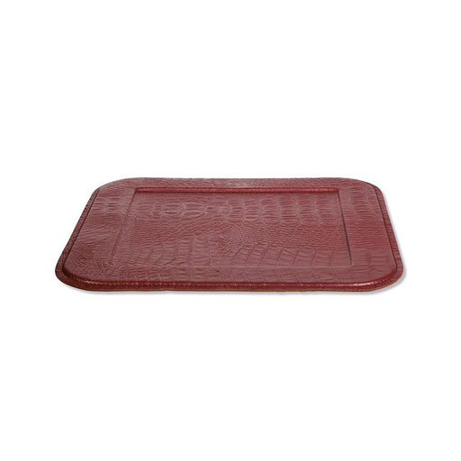 Stylish Serving Tray <br> Croco New Ruby Red <br> (L 34 X W 34) cm