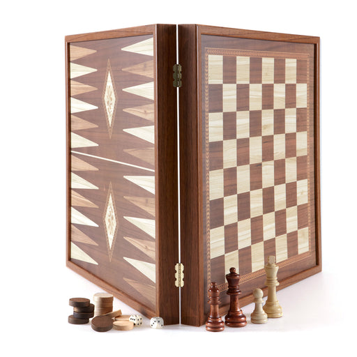2 IN 1 COMBO <br> CHESS / BACKGAMMON LARGE