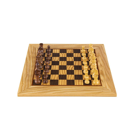 CHESS SET <br> OLIVE BURL