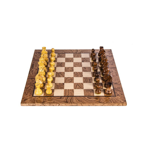 CHESS SET <br> WALNUT BURL