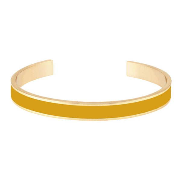 THIN BANGLE CUFF <br> SAFFRON YELLOW